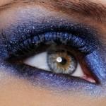 occhi luminosi ombretto blu trucco occhi
