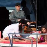 Sacha Baron Cohen e Elisabetta Canalis a Cannes